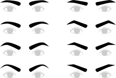 眉毛 メンズ