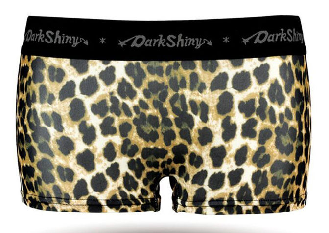 DARK SHINY(ダークシャイニー)Ladies' Boxer Briefs - leopard Camel Brown