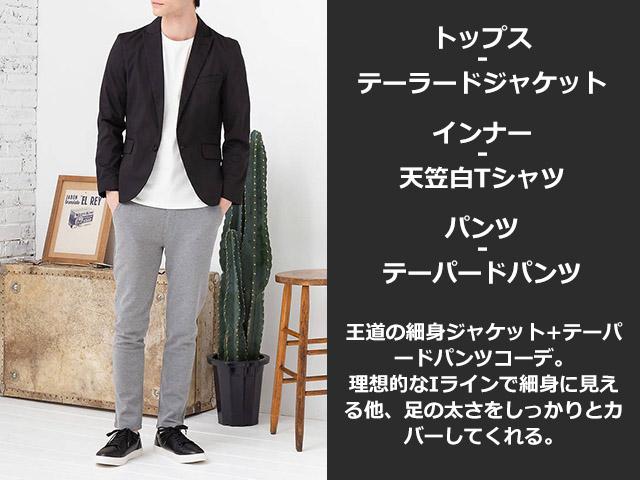 【マネキン買い】テーラードジャケット×半袖Tシャツ×パンツ(3点セット)